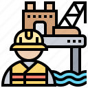 engineer, mechanic, officer, technician, worker icon