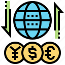 currency, economy, exchange, foreign, trade icon