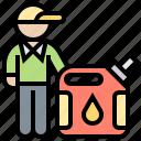 canister, fuel, gasoline, oil, service icon