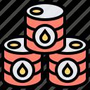 barrel, container, crude, oil, tank icon