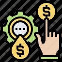 development, oil, price, profit, trade icon