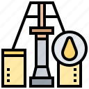 drill, exploration, extraction, fuel, oil icon