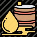 barrel, crude, drop, oil, petroleum icon