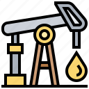 extraction, fuel, industry, oil, petroleum icon