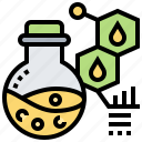 analysis, chemistry, molecule, oil, science icon