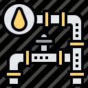 oil, pipeline, supply, transport, tube icon