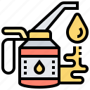 grease, lubricant, machine, oilcan, oiler icon