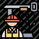 engineer, mechanic, rig, technician, worker icon