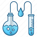 analysis, chemical, lab, oil industry, tube icon