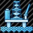oil, oil industry, petrol, platform, sea icon