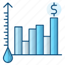 chart, growth, oil, oil industry, price icon