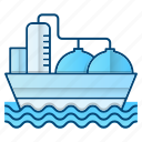 delivery, oil, oil industry, petrol, sea, tanker icon