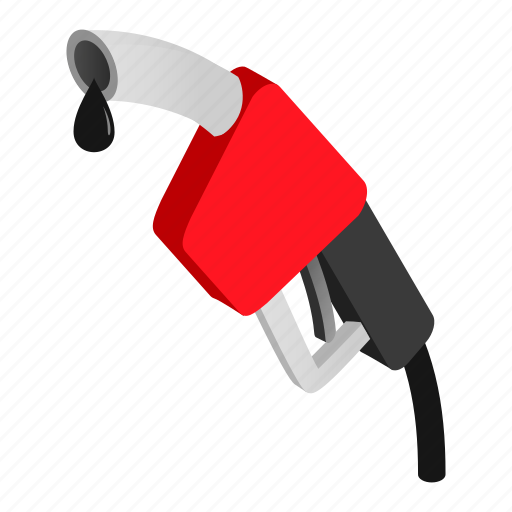 fuel, gas, gasoline, isometric, nozzle, pump, station icon