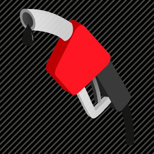 fuel, gas, gasoline, isometric, nozzle, pump, station icon