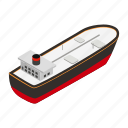 isometric, oil, business, travel, ship, tanker, boat