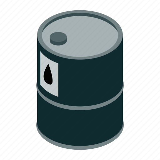 barrel, drum, isometric, metal, oil, petrol, tank icon