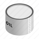 fuel, isometric, natural, oil, power, storage, tank icon