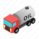 barrel, car, drum, isometric, machine, metal, oil icon