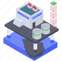 chemical plant, oil factory, oil processing, oil purifier plant, oil refinery plant, refinery plant icon