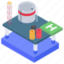 oil factory, oil industry, oil manufacturing, oil processing, oil refinery plant, refinery plant icon