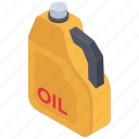 oil bucket, oil cane, oil container, oil gallon, oil jerry can icon