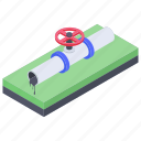 oil pipe, oil pipeline, oil supply, pipework, plumbing, water valve icon