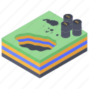 barrel slick, oil contamination, oil leaking, oil slick, oil spill icon