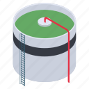 oil container, oil pool, oil reservoir, oil storage, oil store, oil supply, oil tank icon