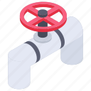 pipeline, pipework, plumbing, water pipe, water valve icon