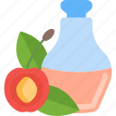 apple, bootle, fruit, oils icon