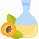 apricot, bottle, fruit, oils icon