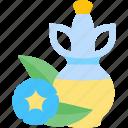 blue, flower, food, oils icon