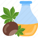 bottle, chestnut, food, oils icon