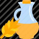 bottle, corn, food, oils icon