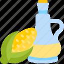 bottle, corn, food, oils, wheat icon