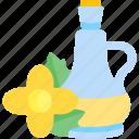 bottle, flower, oils, seed icon
