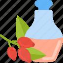 bottle, drink, fruit, oils icon