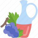 drink, food, grape, oils icon