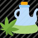 bottle, food, greenery, oils icon