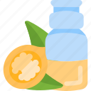 bottle, nut, oils, sheet icon