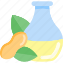 bottle, food, nuts, oils icon