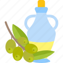 bottle, food, oils, olive icon