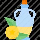 bottle, food, oils, plant icon