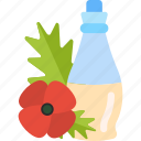 drink, flower, oils, poppy icon