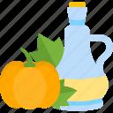 bottle, food, oils, pumplin icon