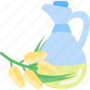 bottle, oils, plant, seed icon