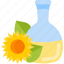 bottle, food, oils, seeds icon