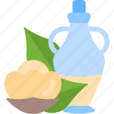 bootle, food, oils, vegetables icon