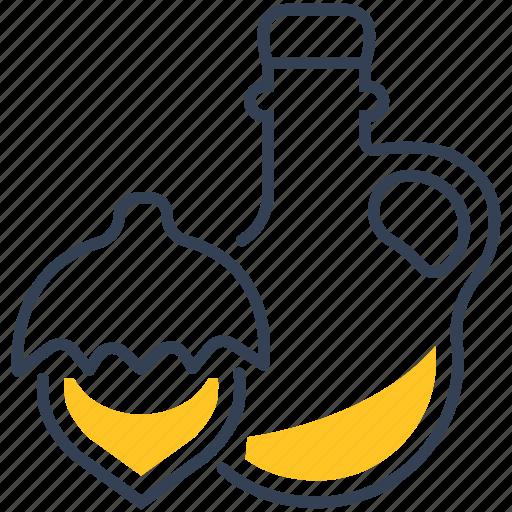 food, hazelnut, oil icon