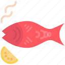 barbecue, fish, grill, seafood icon